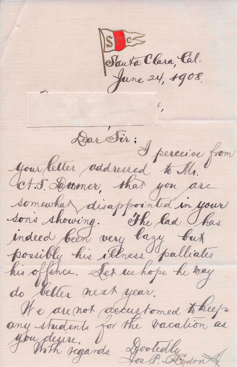 A Letter – circa 1908